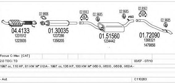 C110283004024 Exhaust System