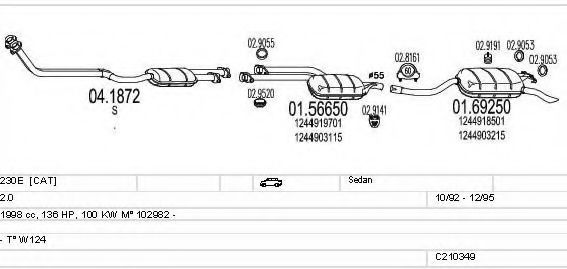 C210349008175 Exhaust System