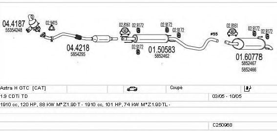 C250968011503 Exhaust System