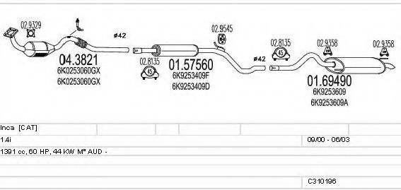 C310196006431 Exhaust System
