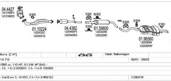C380016002807 Exhaust System