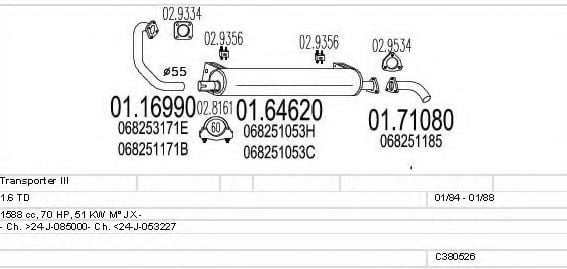 C380526002492 Exhaust System