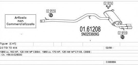 C380889023108 Exhaust System