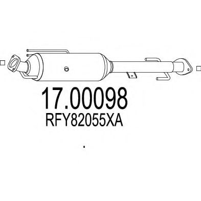 17.00098 Soot/Particulate Filter, exhaust system