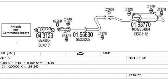 C290152008644 Exhaust System