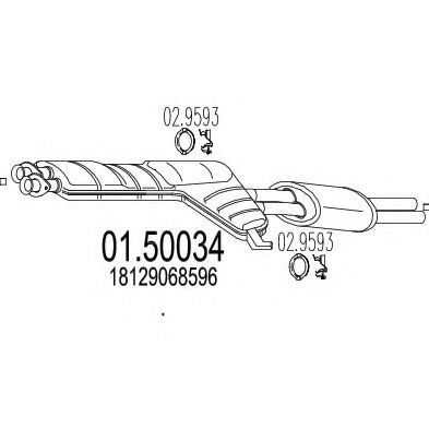 01.50034 Middle Silencer