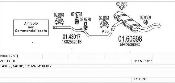 C310337010734 Exhaust System
