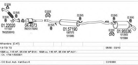 C310380019523 Exhaust System