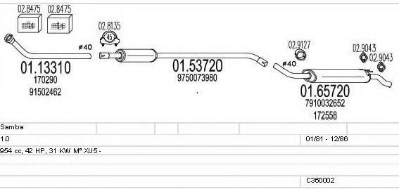 C360002004945 Exhaust System
