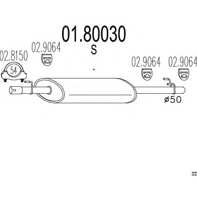 01.80030 Middle Silencer