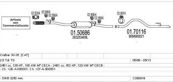C380919023285 Exhaust System
