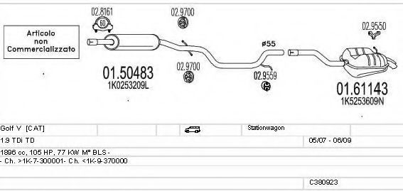 C380923025096 Exhaust System