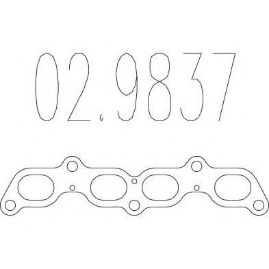 02.9837 Gasket, exhaust pipe
