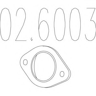 02.6003 Gasket, exhaust pipe