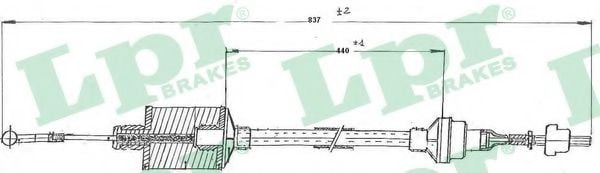 C0159C Clutch Cable
