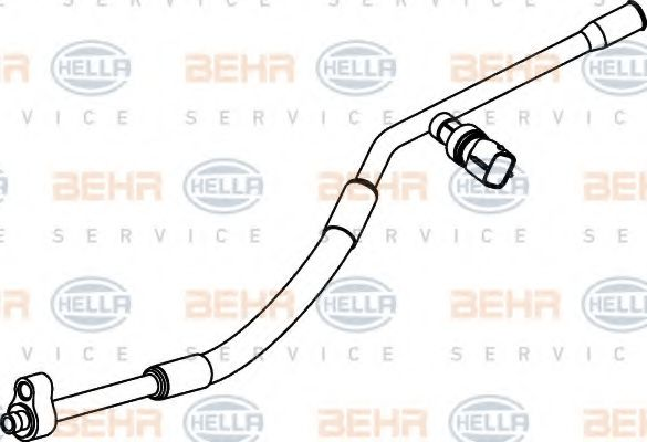 9GS 351 337-091 High-/Low Pressure Line, air conditioning