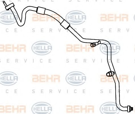 9GS 351 338-071 High-/Low Pressure Line, air conditioning