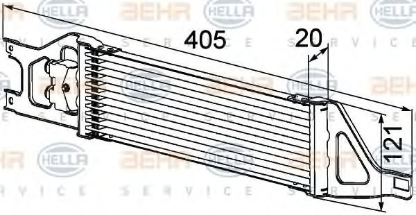 8MO 376 726-401 Oil Cooler, automatic transmission