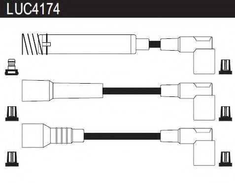 LUC4174 Ignition Cable Kit