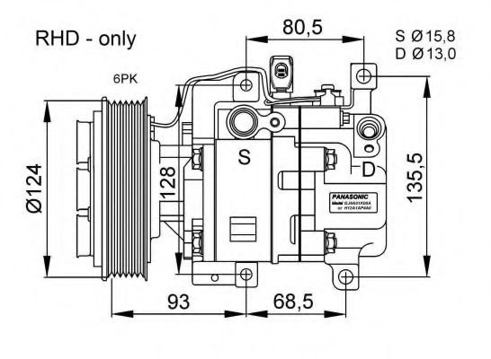 32408G Compressor, air conditioning