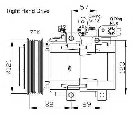 32443G Compressor, air conditioning