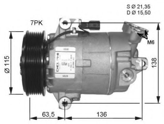 32472G Compressor, air conditioning
