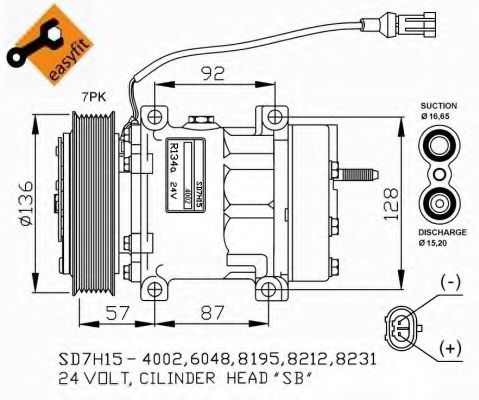 32477G Compressor, air conditioning