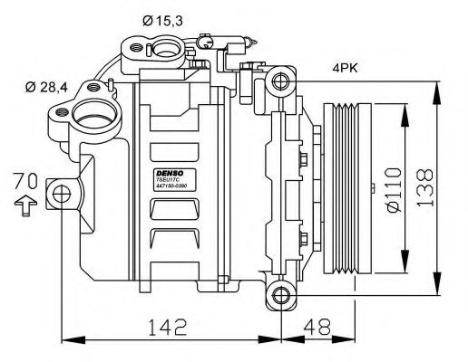 32534G Compressor, air conditioning