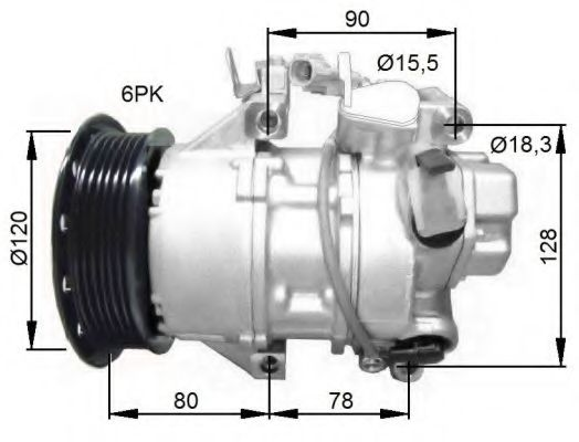 32740G Compressor, air conditioning