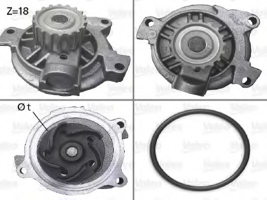 506488 Cooling System Water Pump