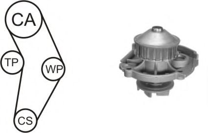 WPK-152301 Cooling System Water Pump & Timing Belt Kit