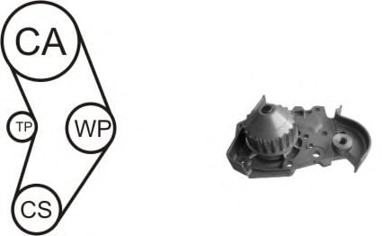 WPK-157801 Cooling System Water Pump & Timing Belt Kit
