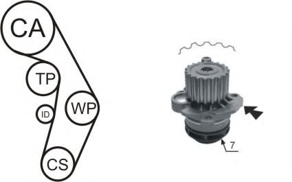 WPK-177402 Cooling System Water Pump & Timing Belt Kit