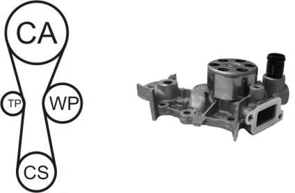 WPK-181801 Cooling System Water Pump & Timing Belt Kit