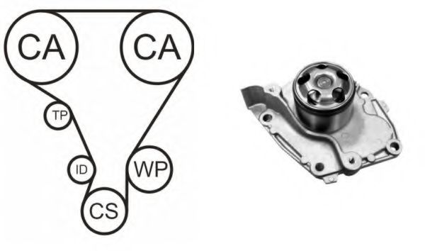 WPK-190702 Cooling System Water Pump & Timing Belt Kit
