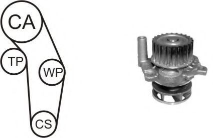 WPK-937701 Cooling System Water Pump & Timing Belt Kit