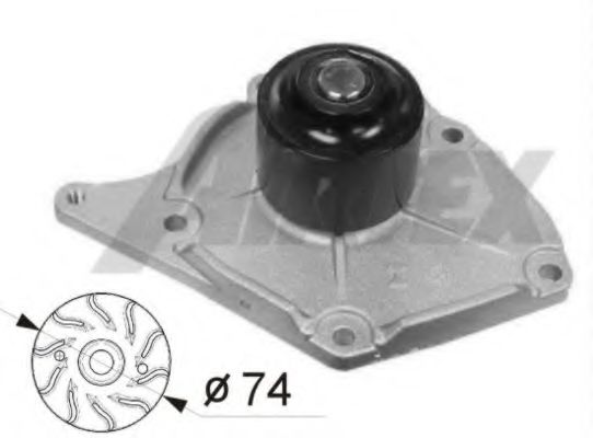 1746 Cooling System Water Pump