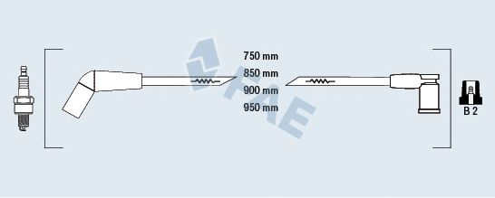 85114 Cable, parking brake