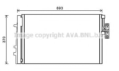 BWA5479D Condenser, air conditioning
