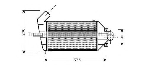 OLA4262 Intercooler, charger