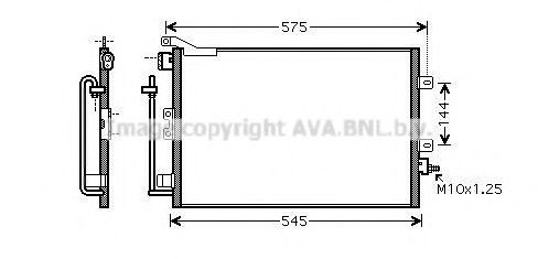 RT5417D Condenser, air conditioning