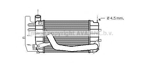 TO4361 Intercooler, charger