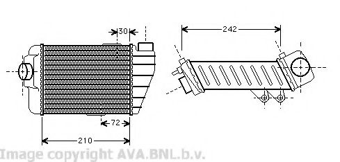 VW4158 Intercooler, charger