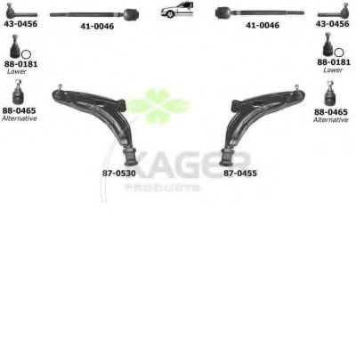 80-0326 Cable, manual transmission