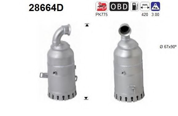 28664D Soot/Particulate Filter, exhaust system
