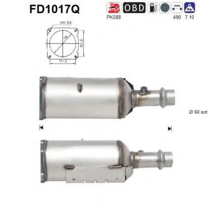 FD1017Q Soot/Particulate Filter, exhaust system