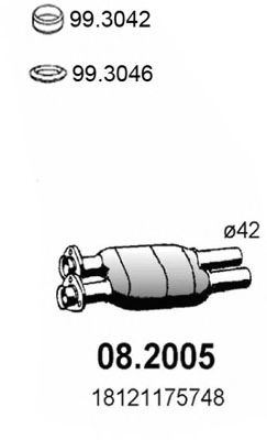 08.2005 Cable, manual transmission