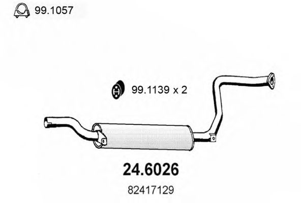 24.6026 Middle Silencer