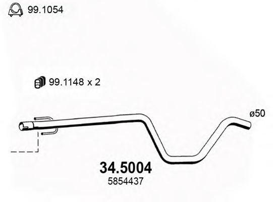 34.5004 Exhaust Pipe