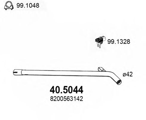 40.5044 Exhaust Pipe